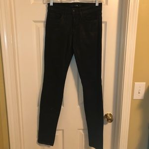 Joe's Jeans in The Skinny waxed black Jeans